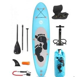 Two Bare Feet SUP Entradia II 10'10 Inflatable SUP Deluxe Pack (Agua Azul) - Used twice only