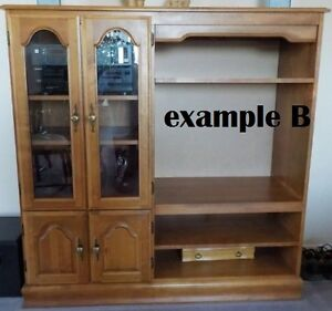 4 x 4 foot Oak Entertainment Center from the 1980s