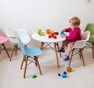 Eames Style Kids Eiffel Table with wooden base