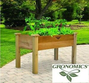 "NEW RUSTIC ELEVATED GARDEN BED - 114646052 - 24""x48""x30"" - UNFINISHED - Gronomics Llc  Patio, Lawn  Garden  Outdoor D..."
