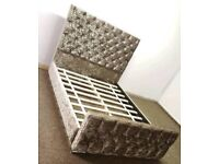 NEW Monaco crushed velvet/chenille bed WITH MATTRESS