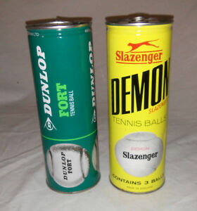 1960s Dunlop / Slazenger Sealed Tin of Tennis Balls