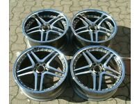 """Mercedes C Class E Class S Class x4 20"""" Deep Dish 647 Alloy Wheels GM Polish"""
