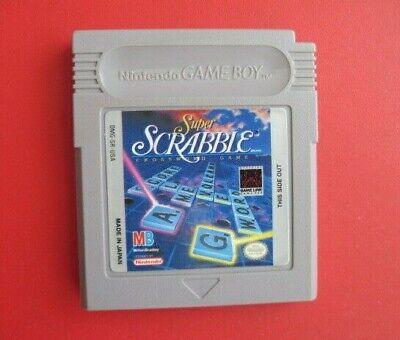 Super Scrabble Nintendo Original Game Boy * Nice Label