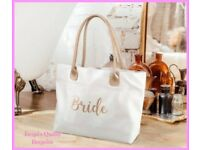 Lillian rose design white and gold tote bag