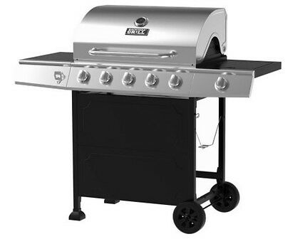 Gas Grill 5-Burner BBQ Backyard Patio Stainless Steel  Barbecue Outdoor Cooking