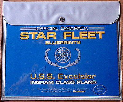 Vintage USS Excelsior Star Fleet Blueprint Set-Star Trek- 8 Sheets in pouch (MF)