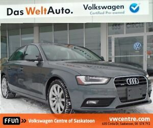 2014 Audi A4 2.0 Komfort MP3, SiriusXM, Sunroof, Leather seat...