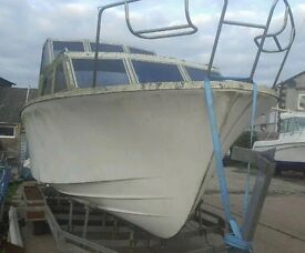 27ft cabin. Cruiser boat project