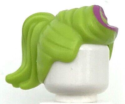 D ZASTER VILLAIN AGENTS minifig Headgear Hair Spiked Top with Lime  NEW LEGO DR