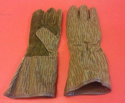 NVA Handschuhe Tarn Ein-Strich-Kein-Strich Tarnung DDR GDR Strichtarnung