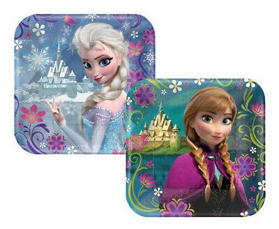 DISNEY FROZEN Birthday Party supplies ANNA ELSA dessert cake PAPER PLATES 8pcs - Frozen Dessert Plates
