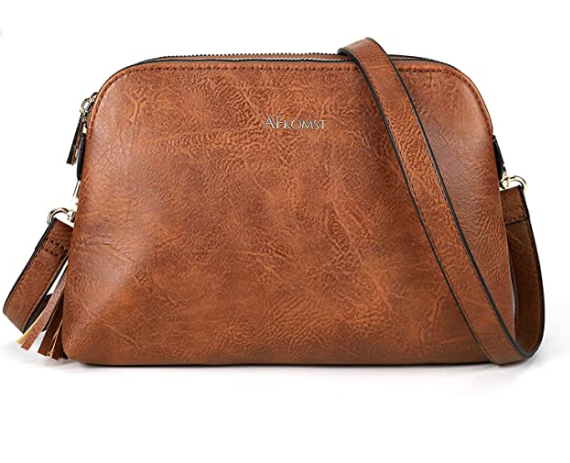 Crossbody Bags for women Small Purse with Double Zip Pockets