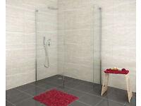 Glass shower panel - Infinity semi frameless 1000mm wide 1850mm tall