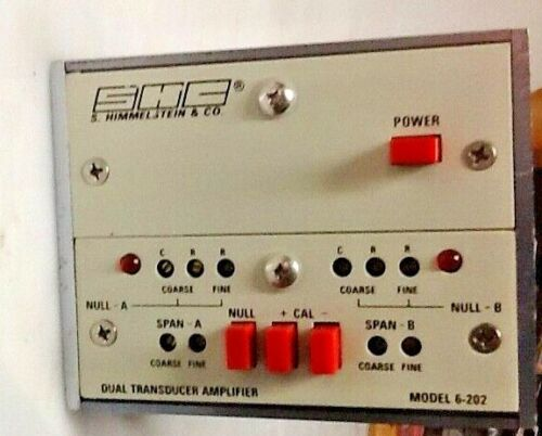 FREE SHIP genuine S HIMMELSTEIN SHC dual Transducer Amplifier model 6-202 tested