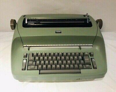 Vintage Ibm Selectric Green Electric Typewriter -- Testednot Working As-is