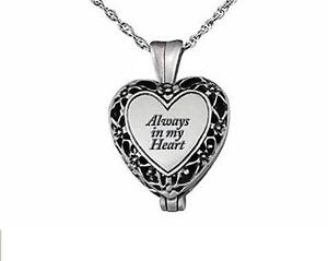 Cremation jewellery  locket hold ashes necklace