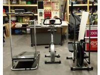 Exercise Equipment: Bike, Treadmill + Cross Trainer
