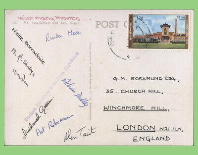 Nepal 1975 Durham University Himalayan Expedition signed postcard