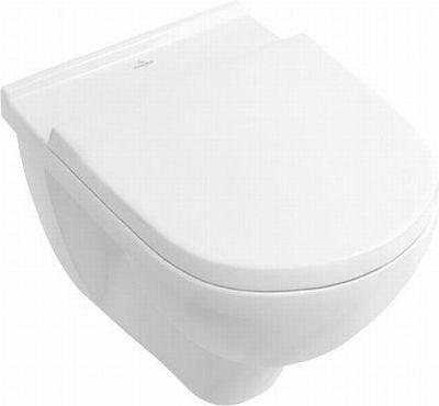 Villeroy & Boch O.Novo Wandtiefspül-WC wasserrandlos inkl. Sitz softclosing +CP