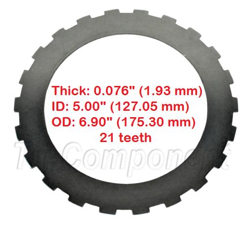 """Steel Plate, Intermediate Clutch, .076"""", GM 4L80E, 1991-Up. 8675522 511358 4L8OE"""