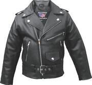 Kids Leather Motorcycle Jacket