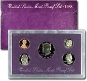 United States Mint Proof Set 1988