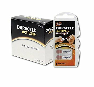 Duracell Activair Hearing Aid Batteries Size 312  80
