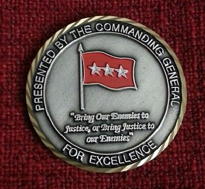 UNITED STATES ARMY SPECIAL OPERATIONS COMMAND 3 STAR OLD AND RARE CHALLENGE COIN