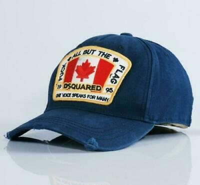 NEW DSQUARED2 CAP ICON DSQICOND2 BLACK CAPS BRAND SNAPBACKS BASEBALL CAP HAT UK