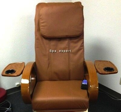 Pedicure Spa Massage Chair (CAPPUCCINO Massage seat back pillow cushion upholstery cover pedicure spa)