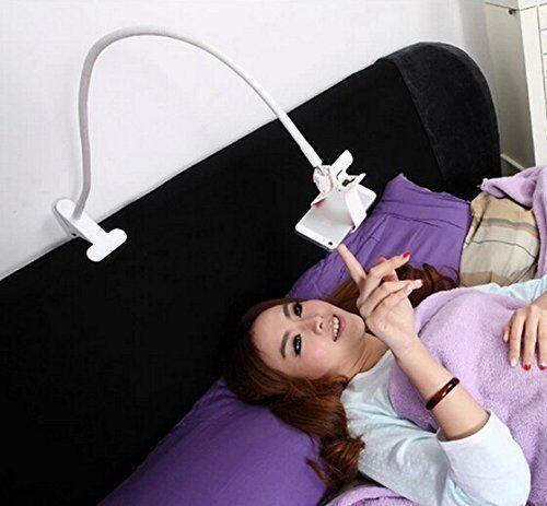 Adjustable Long Arm Bed Desk Lazy Bracket Clip Smart Phone Stand Holder Mount