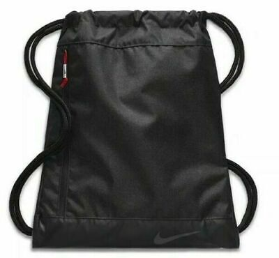 8faf9b1bb NWT Nike Golf GYM SACK CINCH BAG Soccer Fitness Travel BLACK ANTHRACITE  BA5746