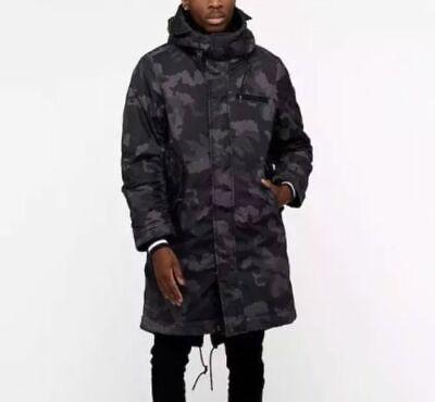 Men's Nike NSW Synthetic Fill Parka -Obsidian Camo -Size M -AA8859 475 <New>