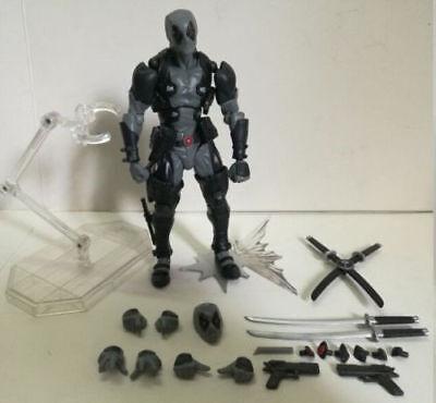Amazing Yamaguchi Marvel Revoltech Kaiyodo Gray DEADPOOL Figure X-Men Figure Toy