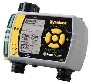 Melnor 3060 Digital Water Timer Dual Garden Hose Sprinkler Timer