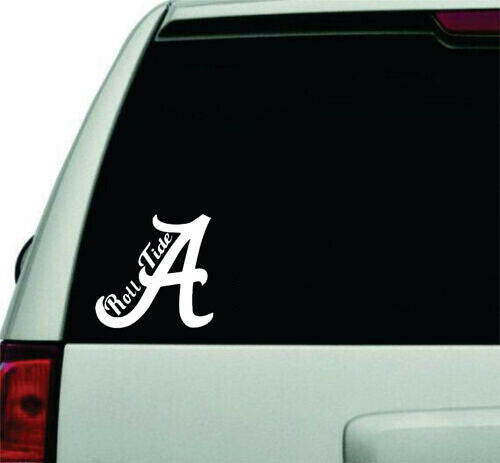 Home Decoration - Alabama Roll Tide Permanent Waterproof Decal/Sticker