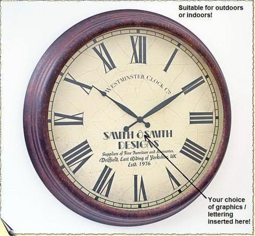 large outdoor clock ebay. Black Bedroom Furniture Sets. Home Design Ideas
