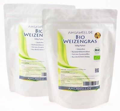 Bio Weizengras Pulver 1000g,Rohkostqualität,hoher Vitalstoffgehalt /DE-ÖKO-039