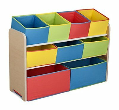 NEW Delta Multi Color Deluxe Toy Organizer with Storage Bins FREE SHIPPING (Multi Bin Toy Organizer)