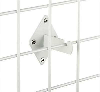 Wall Brackets For Gridwall Or Grid Panels - White Color - Set Of 8 Pieces