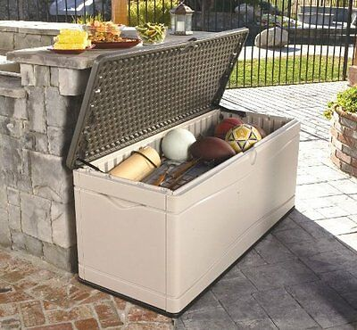 Lifetime Extra Large Deck Box Storage Bench For Outdoor patio Garden