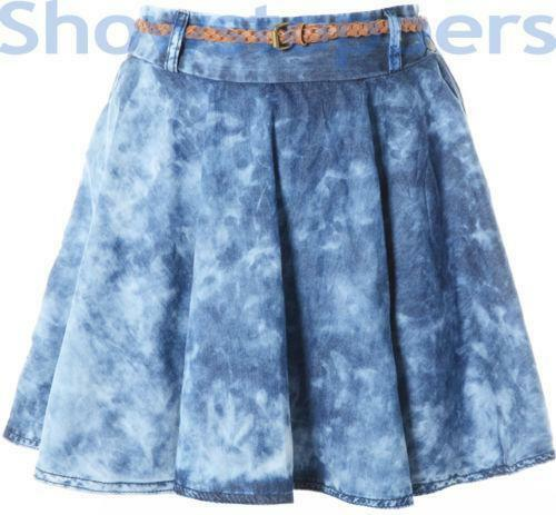 acid wash denim skirt ebay