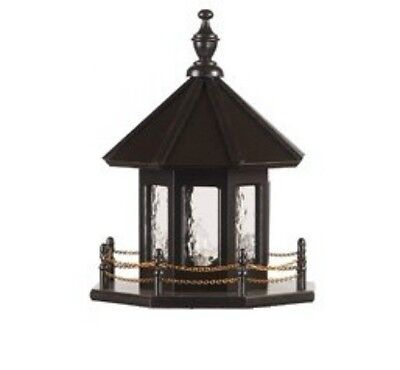 Replacement Outdoor Lighthouse Top Wooden or Poly Optional Lighting Yard (Lighthouse Top)