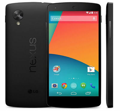 Google Nexus 5 D820 - 16 GB - Black (Unlocked) Smartphone, Clean IMEI, Exc. Cond