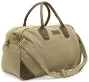 Canvas Leather Holdall