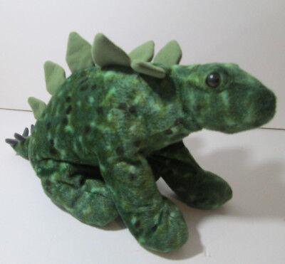 Wild Republic Green Dinosaur Stegosaurus Plush 12  Stuffed Animal
