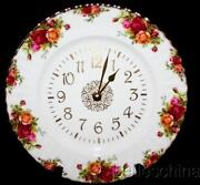 Royal Albert Old Country Roses Clock