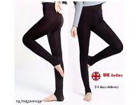 Winter Leggings High Waist (Black)