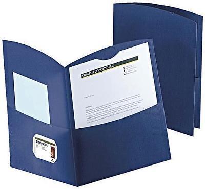 Oxford Contour Twin Pocket Folders - Dark Blue Box Of 25